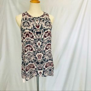 WITCHERY sleeveless patterned top SIZE Small